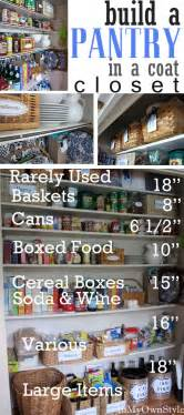Kitchen Pantry Closet Organization Ideas Build A Kitchen Pantry In A Coat Closet Organizing Tips