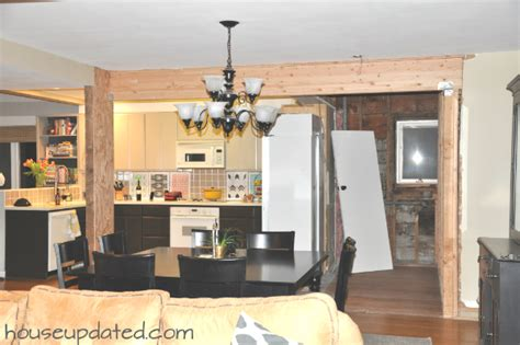 tearing a wall tearing and moving kitchen walls house updated