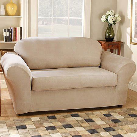 Sure Fit Suede Sofa Stretchable Slipcovers Walmart Com Suede Sofa Slipcovers