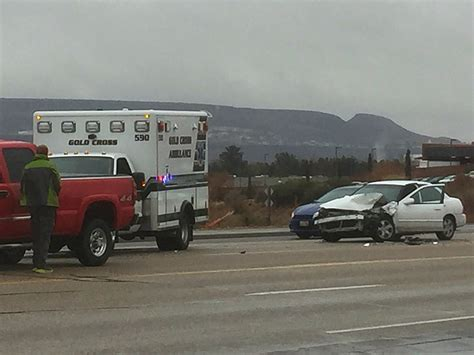 st george emergency room distracted driving results in 3 vehicle crash on river road cedar city news