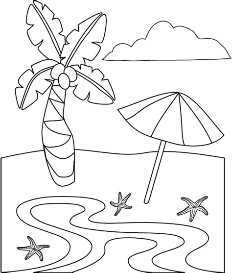 free coloring pages of the sea and the beach
