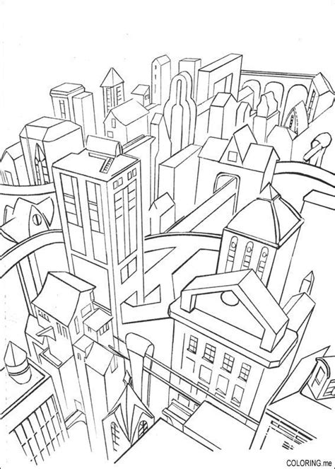 coloring book page of a city free coloring pages of city paris