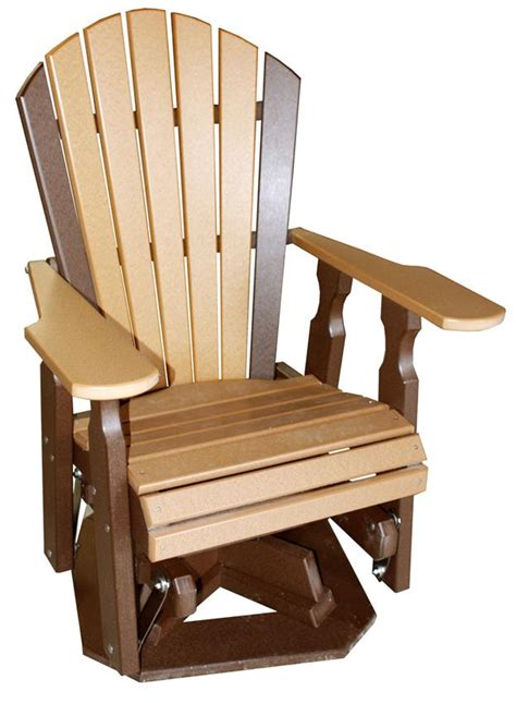 amish outdoor swivel glider chair amish poly wood classic swivel glider