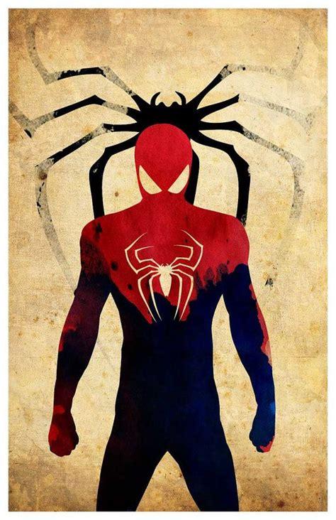 imagenes minimalistas de superheroes affiche minimaliste de super h 233 ros spiderman awesome