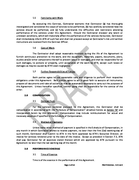 professional services agreement free download