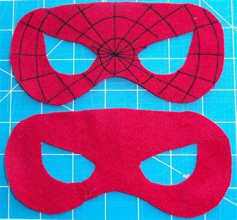 spiderman hair pattern felt superhero mask templates cutesy crafts