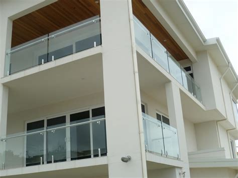 Tempered Glass Balcony stainless steel baluster tempered glass balcony railing