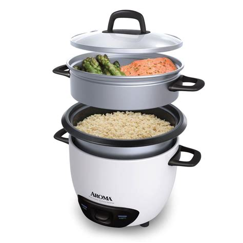 Restaurant Style Kitchen Faucets by Aroma 6 Cup Pot Style Rice Cooker Arc 743 1ng The Home Depot
