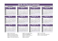 Fiscal Year 2018 Calendar 2018 Fiscal Year Calendar Template Printable Free Templates