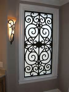 Wrought iron bathroom window insert i want to do this please