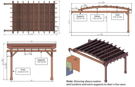Garden Pergola Length 22 Ft Garden Pergola Width 14 Average Height Of A Pergola