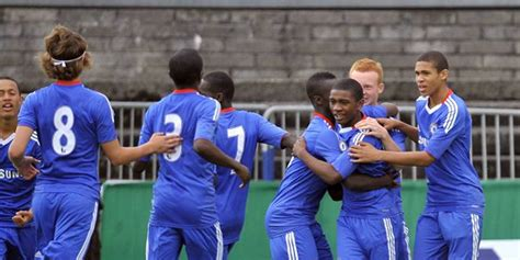 chelsea academy players junior blues win milk cup thechels net