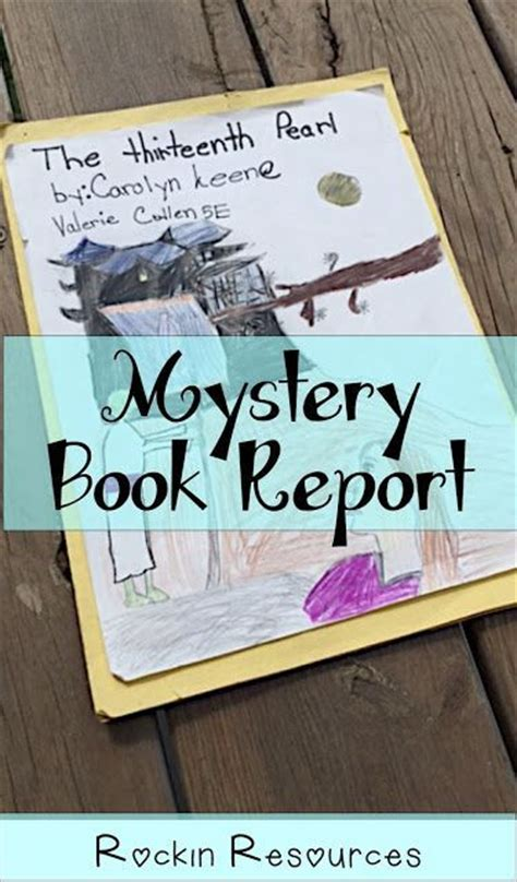 mystery book report projects mystery book report 5 steps book reports book projects