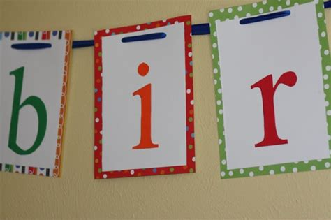 How To Make A Paper Banner - happy birthday banner the picky apple