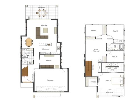 Home Plans For Narrow Lots | bloombety small lot house floor plans narrow lot small
