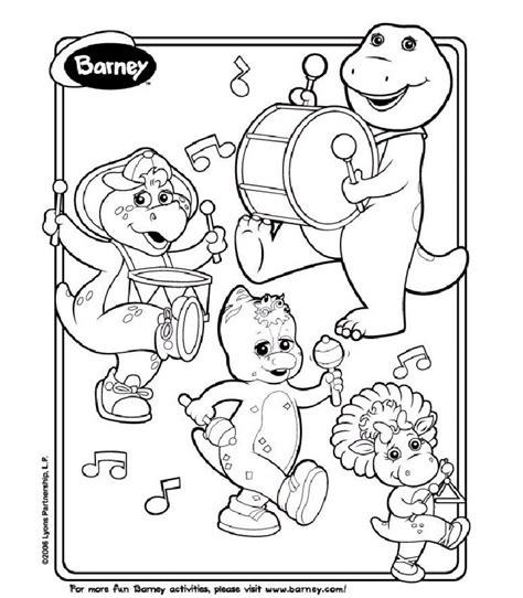 barney coloring pages pdf free printable barney coloring pages barney birthday