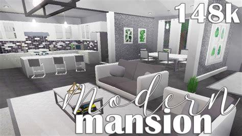 roblox   bloxburg modern mansion  youtube