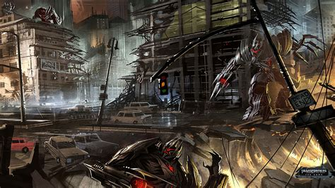 games blog what is concept art transformers dark of the moon video game concept art