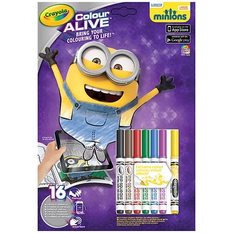 crayola coloring pages minions review crayola minions colour alive set mummy and the