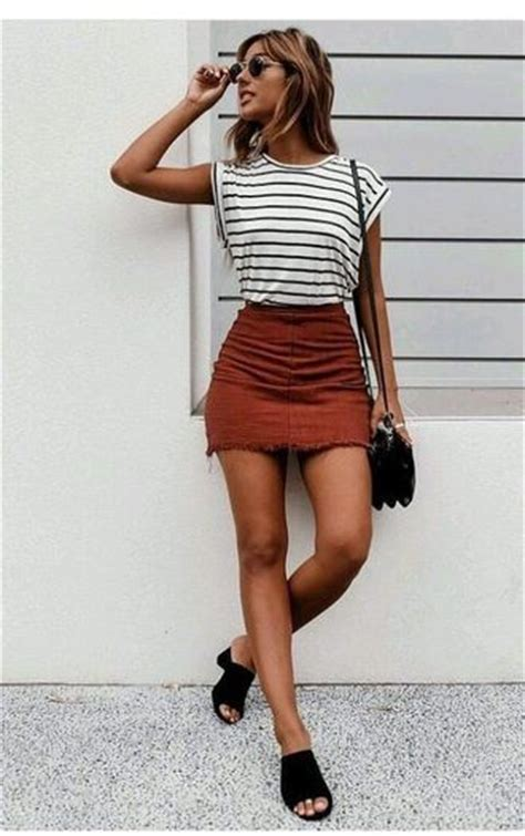 Whitebrownblack Stripe Casual Top 24544 25 best ideas about casual on clothes and