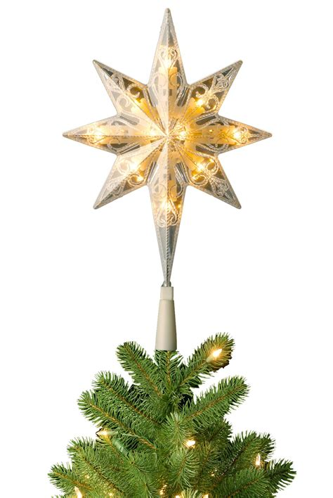 pre lit bethlehem star christmas tree topper soft white