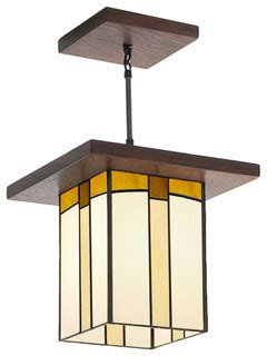 Mission Style Lantern For Hallway Entryway Over A Kitchen Arts And Crafts Kitchen Lighting