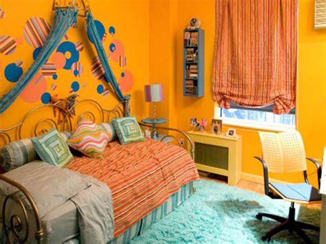 Bright Orange Room by Orange And Blue Bedroom Hgtv
