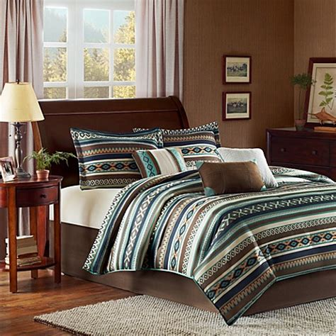 bed bath and beyond blue comforter buy brown and blue comforter sets from bed bath beyond