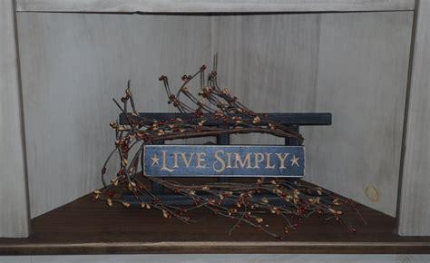 simply primitive home decor country pip berry ladder decor live simply shelf sign