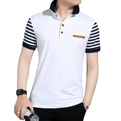 Polos Moda 2017 | dimusi 2017 new mens polo shirt fake pocket trend slim fit