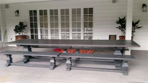 custom  large anaheim dining table  benches