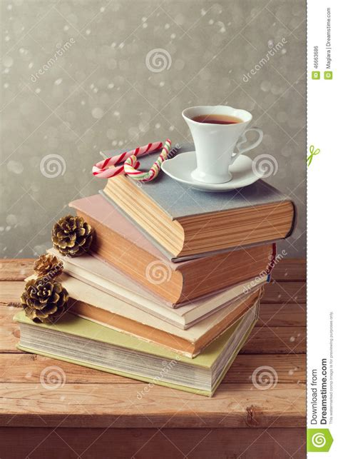libro woods a celebration christmas holiday tea cup on old books with love shaped