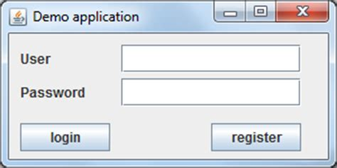 login form in java swing java swing tutorials swing user interface programming