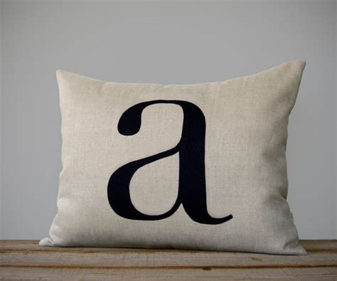 personalized initial pillow 14x18 modern home decor by
