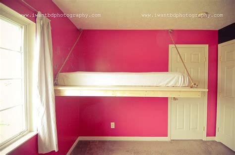 hanging loft bed awesome hanging loft bed to build pinterest