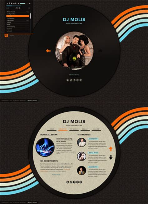 templates for dj website dj page html5 template best website templates