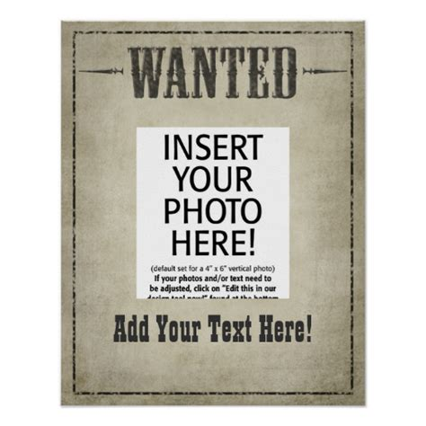 wanted poster template zazzle