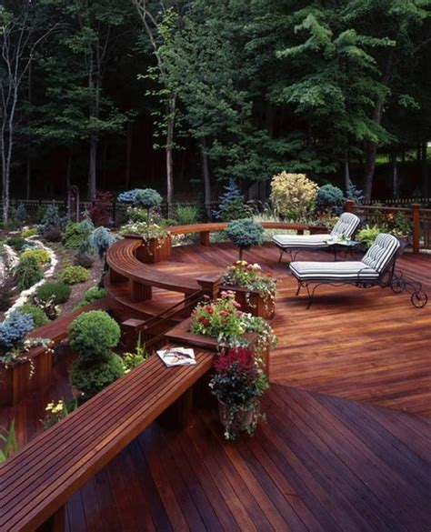 backyard wood patio 30 outstanding backyard patio deck ideas to bring a