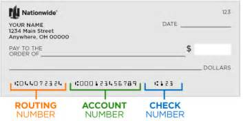 Routing Number Locate The Bank Routing Number On A Check Nationwide