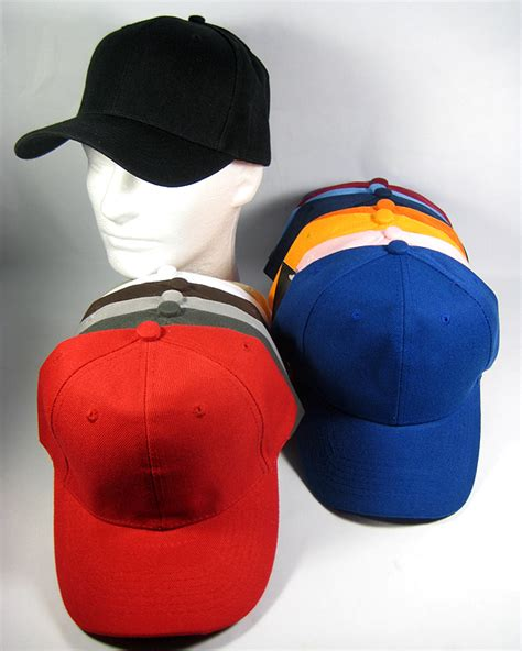 wholesale blank baseball caps plain acrylic ball hats
