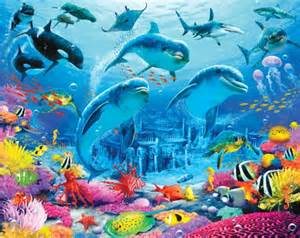 Under The Sea Wall Murals Under The Sea Themed Childrens Bedroom Wall Mural
