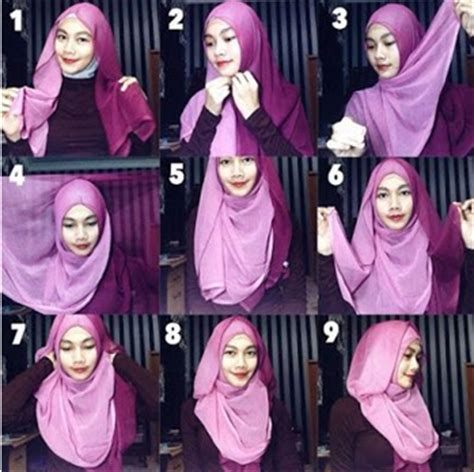 tutorial hijab dua warna tutorial hijab segi empat terbaru simple dan fashionable