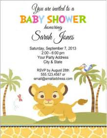king baby shower invitation templates king jungle baby shower or birthday by