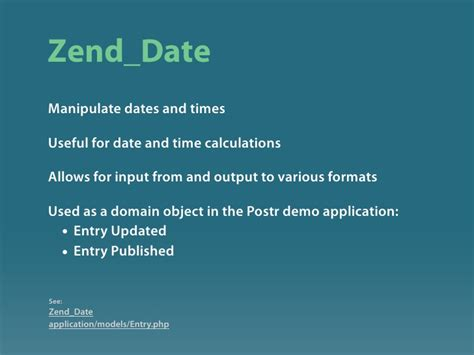 format date zend zend framework introduction