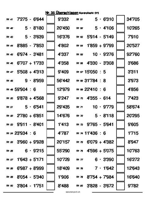 Rechnung Mathe Englisch Zebis Ch