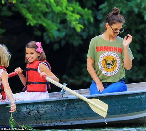 mothers day boat ride nyc katie holmes and daughter suri enjoy boat ride in nyc