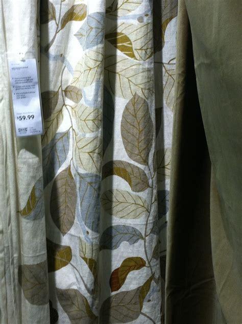 brown leaf pattern curtains ikea ideas pinterest
