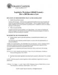 legislative bill template legislative worksheet sbar format how a bill becomes