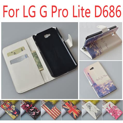 Flipcase Lg D682 for lg g pro lite d684 d686 d682 d 684 686 682 flip cover leather housing for lgd lgd686