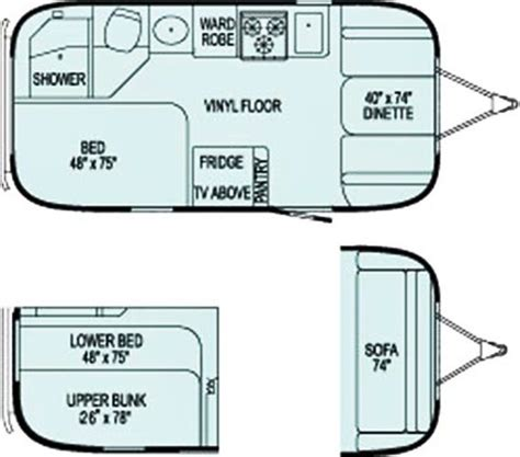 Airstream Travel Trailers Floor Plans | 25 best ideas about travel trailer floor plans on